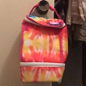 Rainbow cooling lunch bag